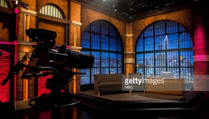 LATE NIGHT WITH SETH MEYERS -- (EXCLUSIVE COVERAGE) Episode 096 -- Pictured: Late Night set on September 15, 2014 -- (Photo by: Lloyd Bishop/NBC)
